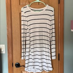 Lou and Grey long sleeve striped dress
